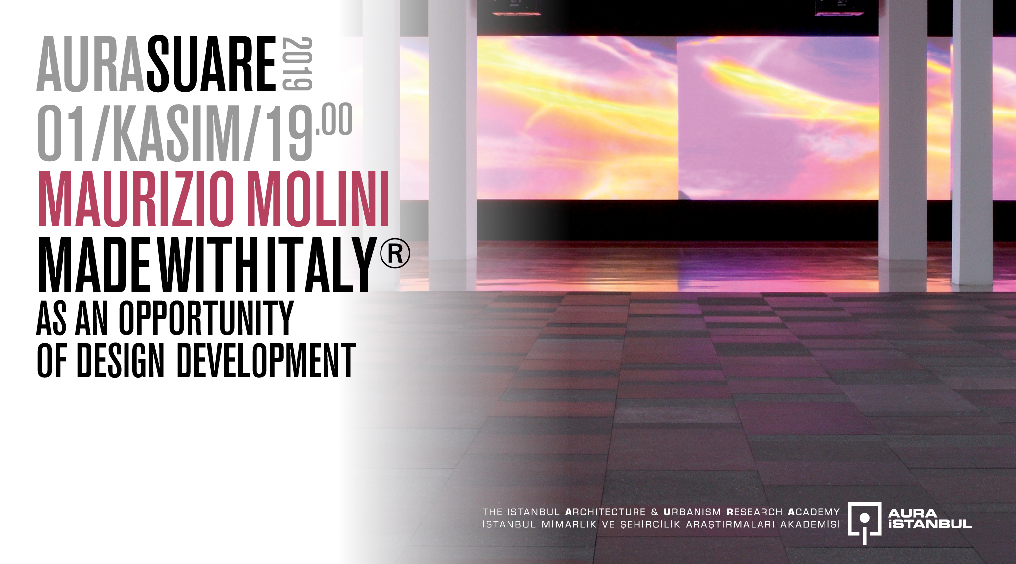 "AURA Suare: Maurizio Molini ""madewıthItaly® as an opportunıty of desıgn development"""