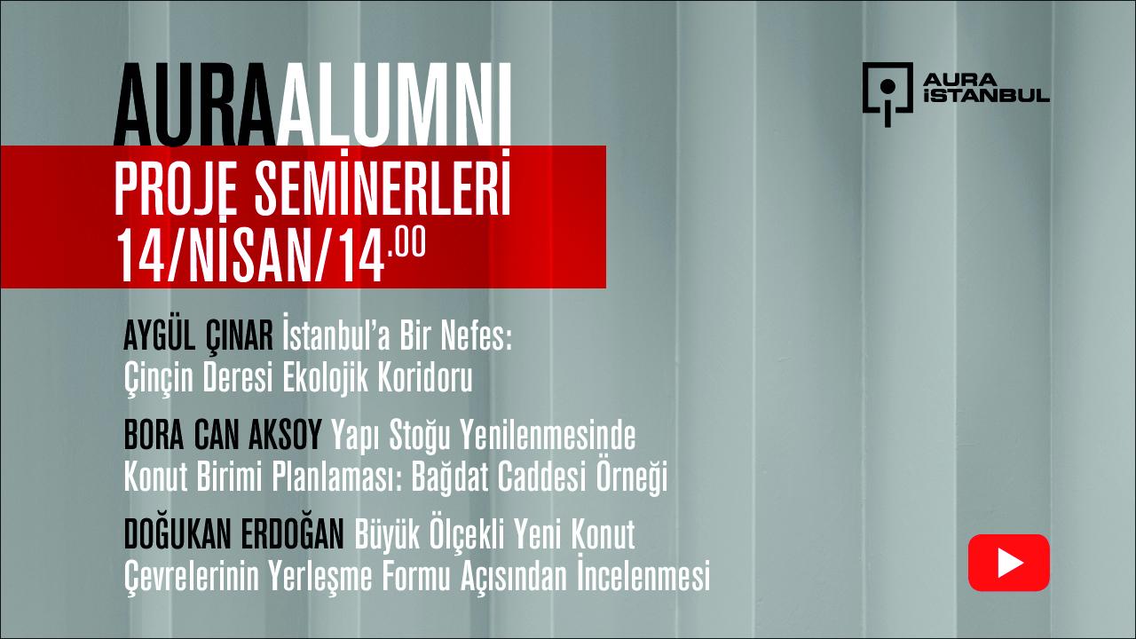 AURA Alumni Proje Seminerleri:  Aygül Çınar, Bora Can Aksoy, Doğukan Erdoğan